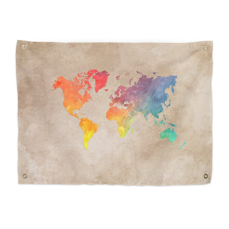 world map 23 in Tapestry by jbjart Artist Shop
