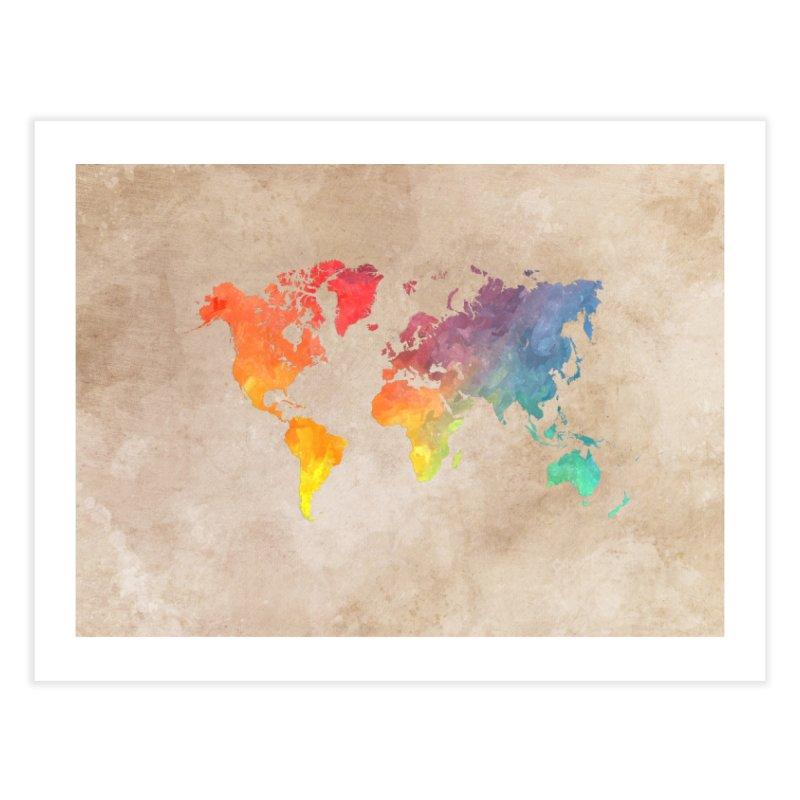 world map 23 Home Fine Art Print by jbjart Artist Shop