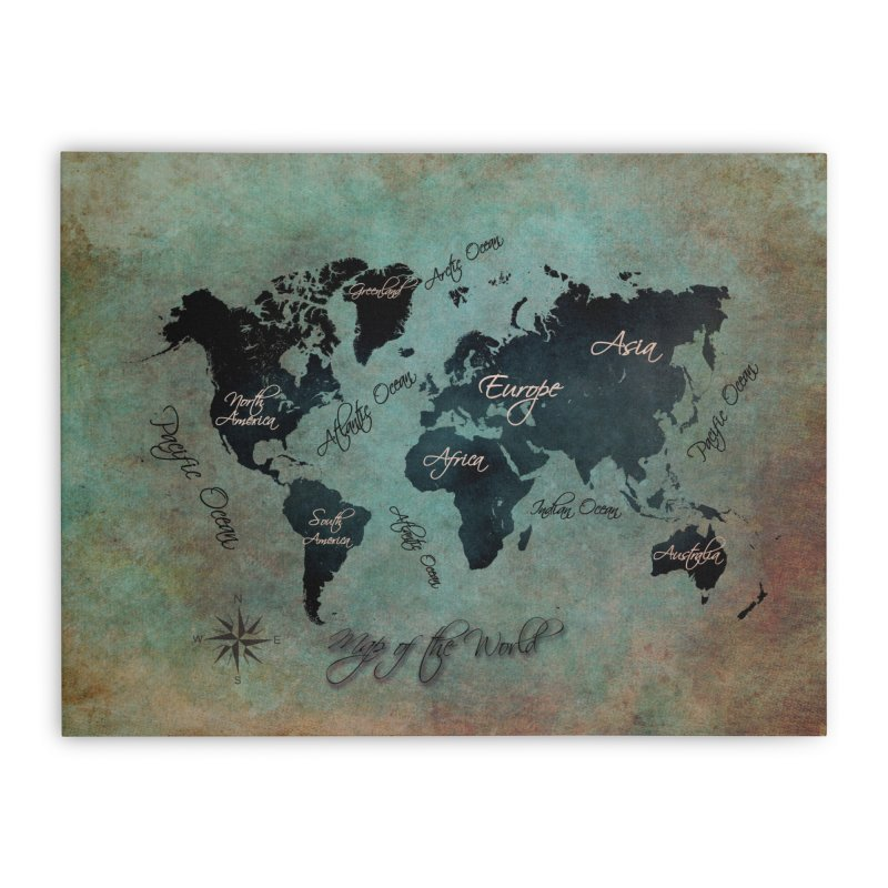 world map 24 in Stretched Canvas by jbjart Artist Shop