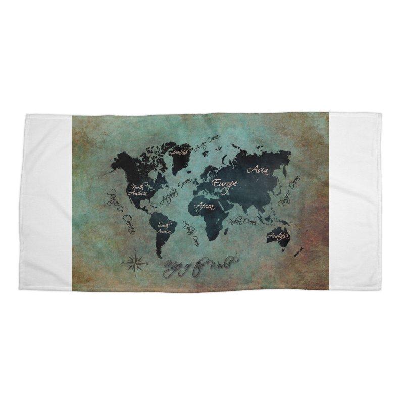 world map 24 Accessories Beach Towel by jbjart Artist Shop