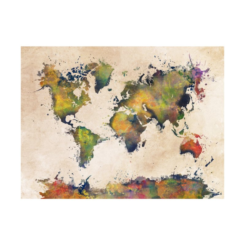 world map 25 Home Fine Art Print by jbjart Artist Shop