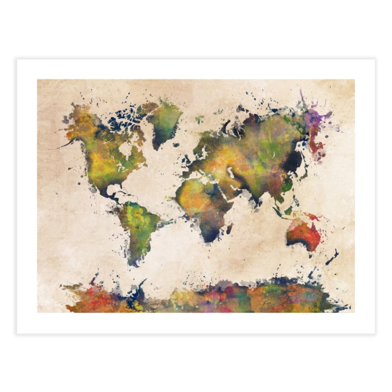 world map 25 in Fine Art Print by jbjart Artist Shop