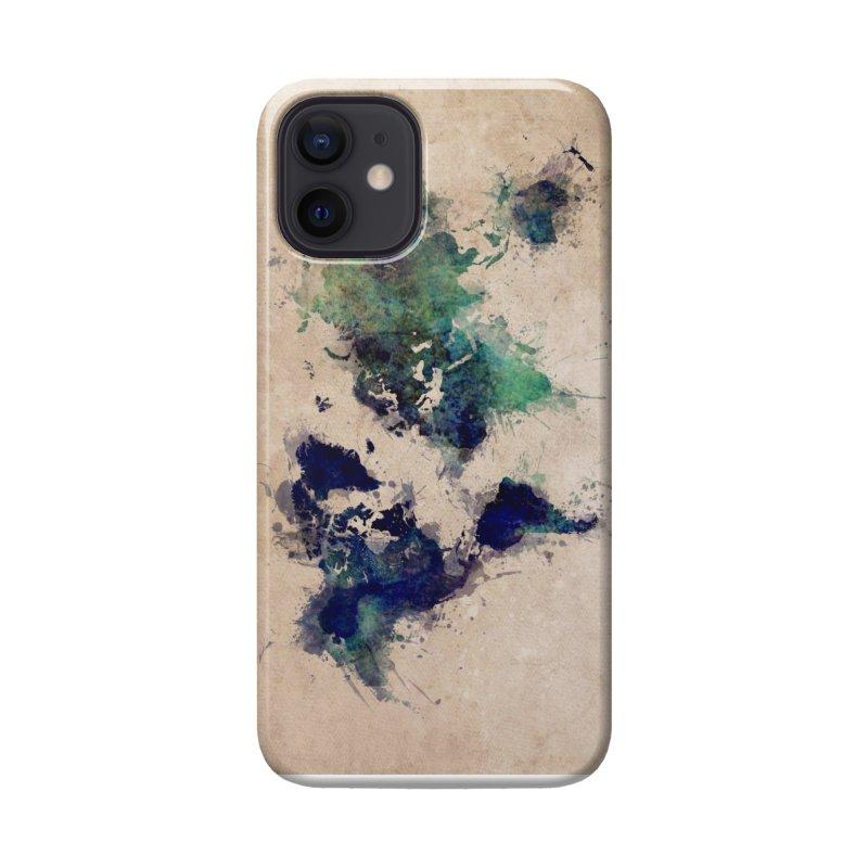world map green 26  Accessories Phone Case by jbjart Artist Shop