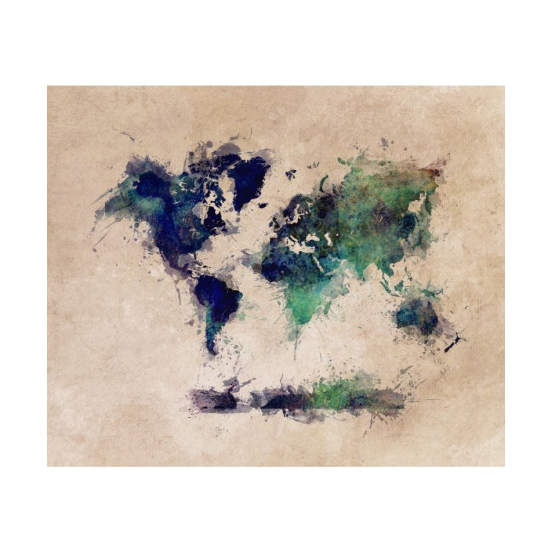 world map green 26  Home Blanket by jbjart Artist Shop
