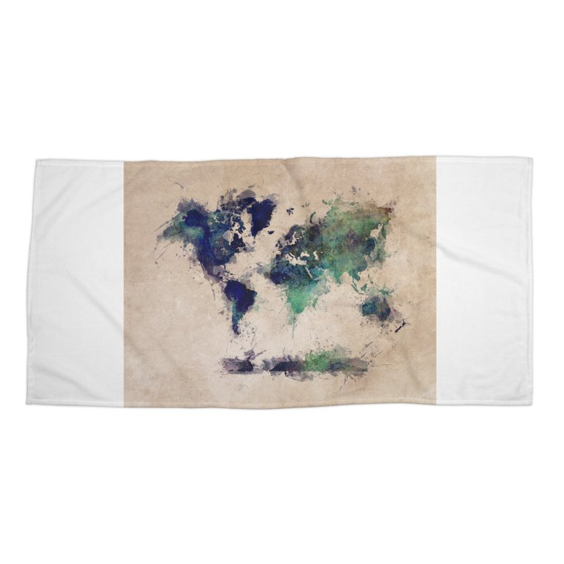 world map green 26  Accessories Beach Towel by jbjart Artist Shop