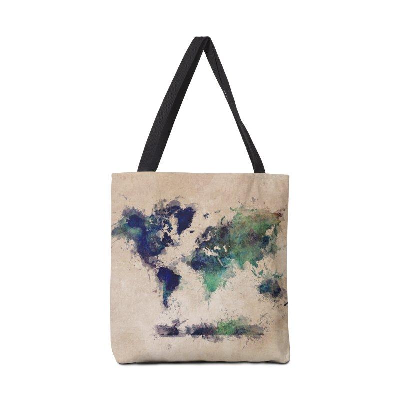 world map green 26  Accessories Bag by jbjart Artist Shop
