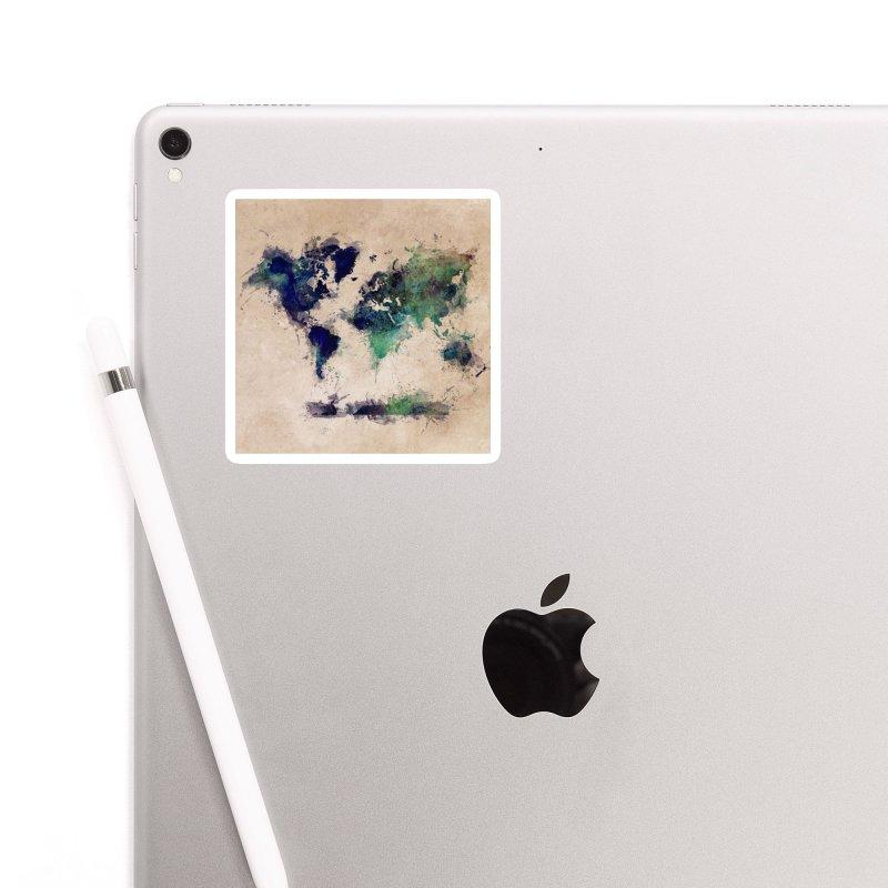 world map green 26  Accessories Sticker by jbjart Artist Shop