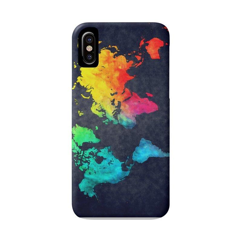 world map colors 27 Accessories Phone Case by jbjart Artist Shop