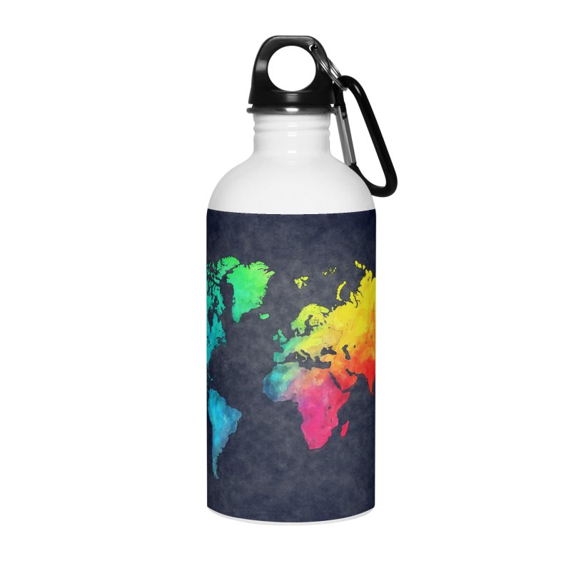 world map colors 27 Accessories Water Bottle by jbjart Artist Shop