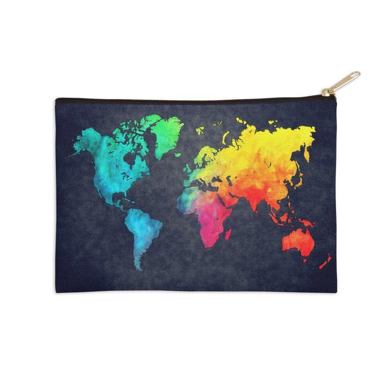 world map colors 27 Accessories Zip Pouch by jbjart Artist Shop