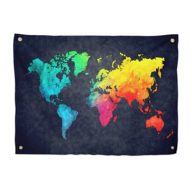 world map colors 27 in Tapestry by jbjart Artist Shop