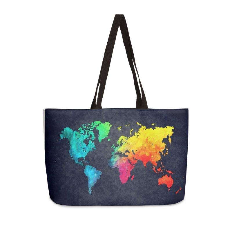 world map colors 27 Accessories Weekender Bag Bag by jbjart Artist Shop