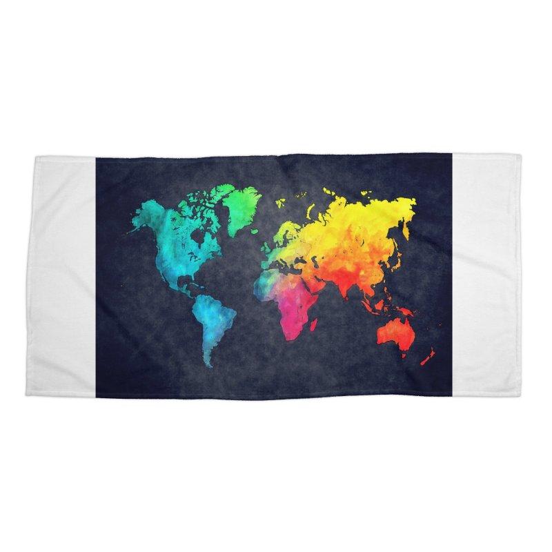 world map colors 27 Accessories Beach Towel by jbjart Artist Shop