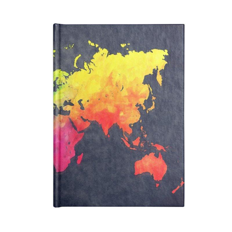 world map colors 27 Accessories Blank Journal Notebook by jbjart Artist Shop
