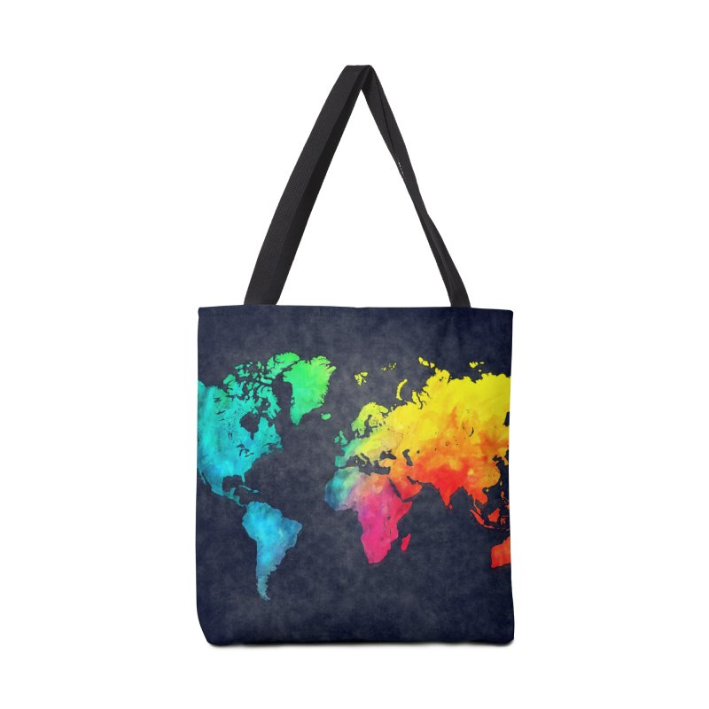 world map colors 27 Accessories Tote Bag Bag by jbjart Artist Shop