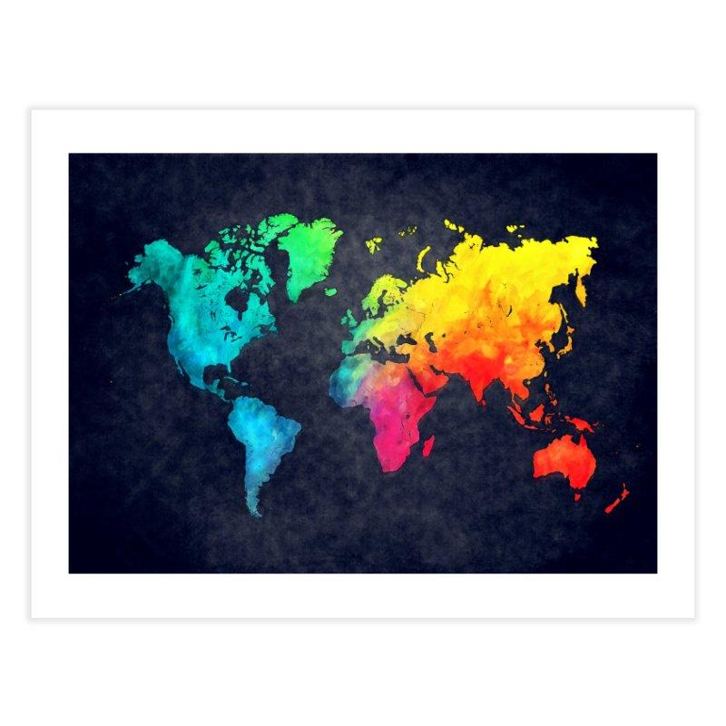 world map colors 27 Home Fine Art Print by jbjart Artist Shop