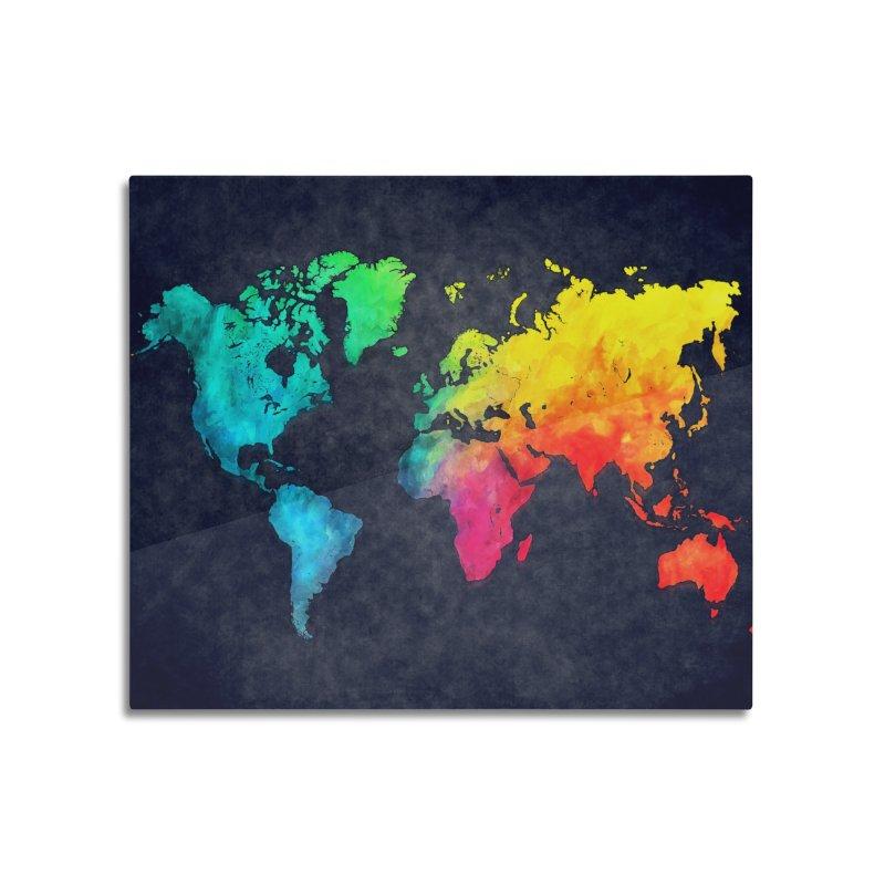 world map colors 27 Home Mounted Acrylic Print by jbjart Artist Shop