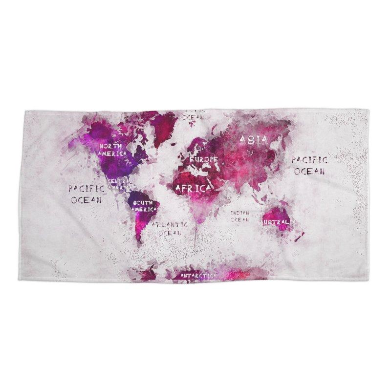 world map white 29  Accessories Beach Towel by jbjart Artist Shop