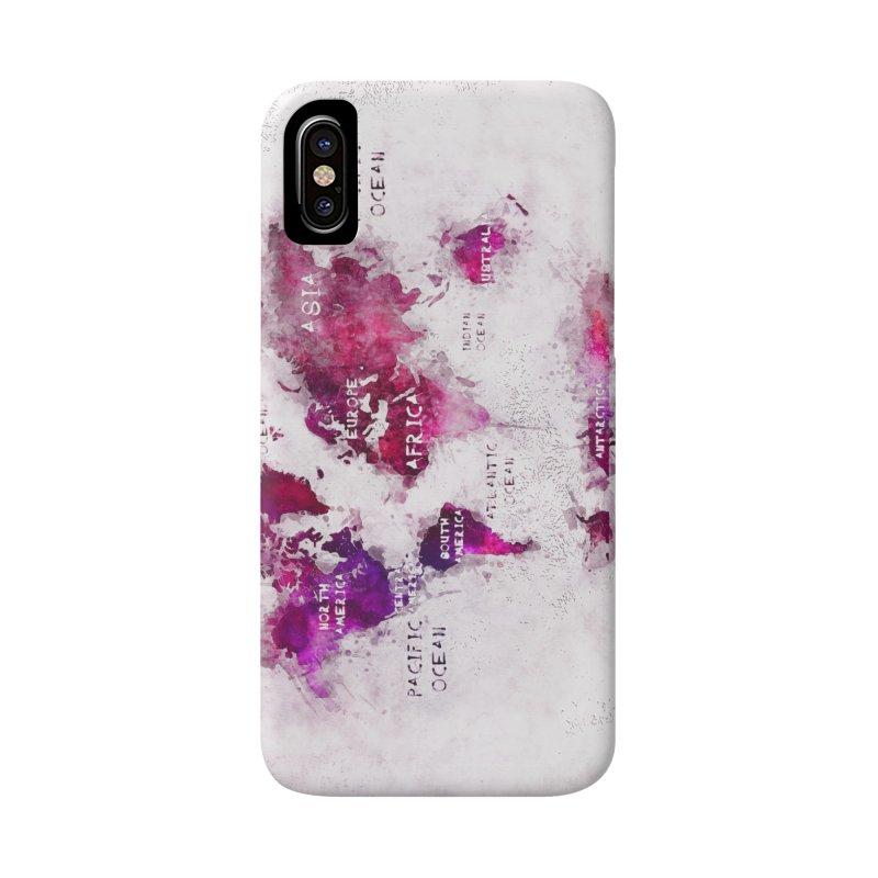 world map white 29  Accessories Phone Case by jbjart Artist Shop
