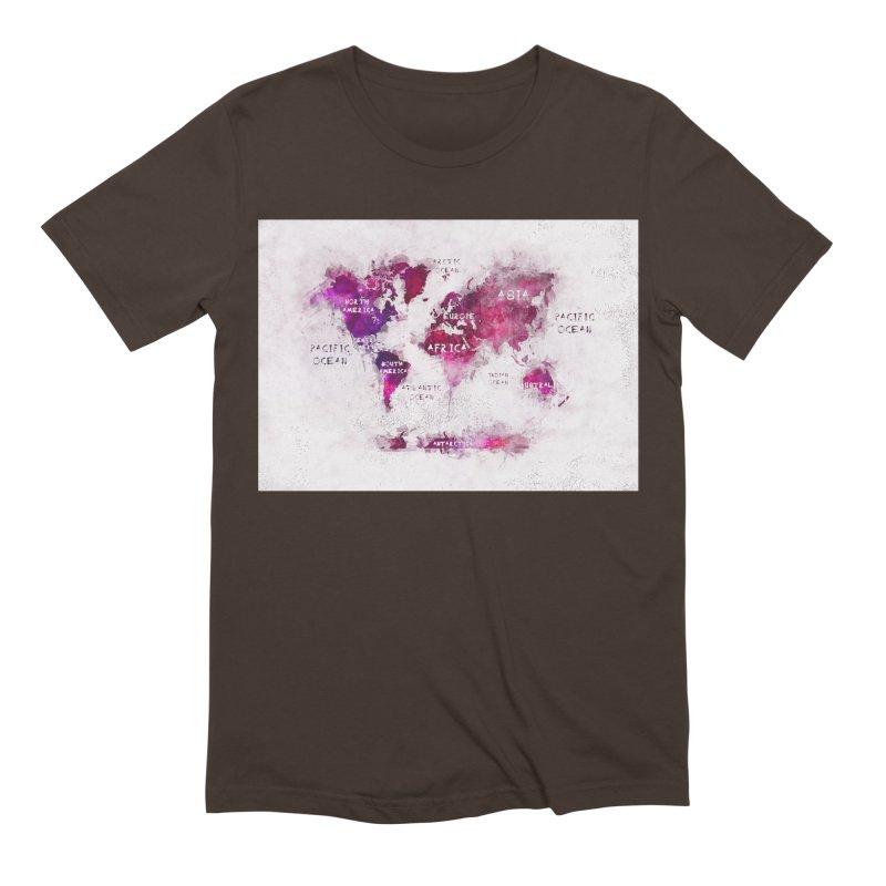 world map white 29  Men's Extra Soft T-Shirt by jbjart Artist Shop