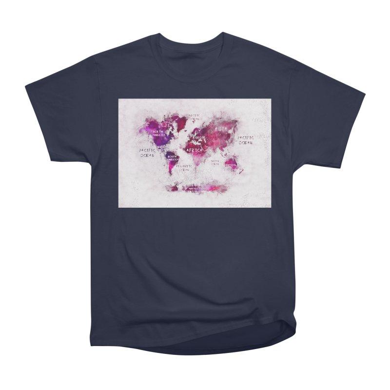 world map white 29  Men's Heavyweight T-Shirt by jbjart Artist Shop