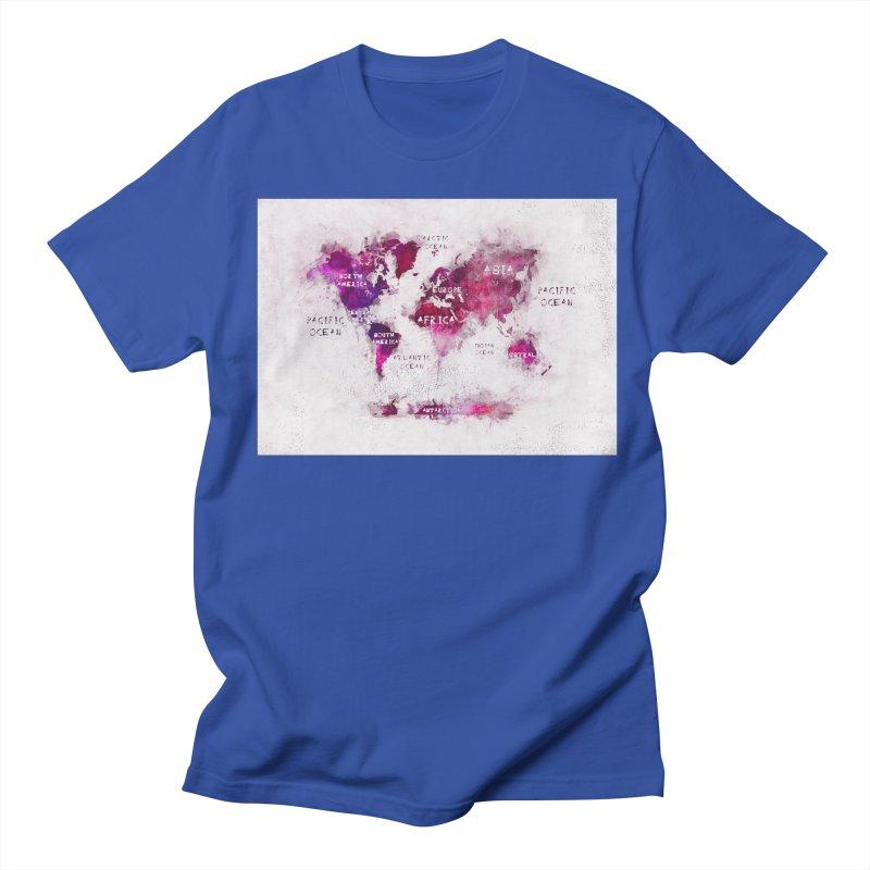 world map white 29  Men's Regular T-Shirt by jbjart Artist Shop