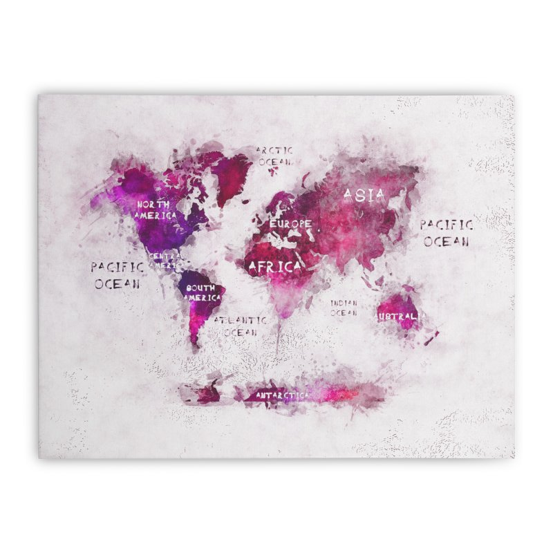 world map white 29  Home Stretched Canvas by jbjart Artist Shop