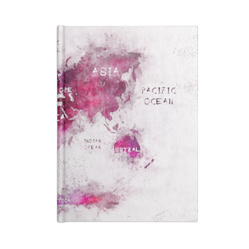 world map white 29  Accessories Blank Journal Notebook by jbjart Artist Shop