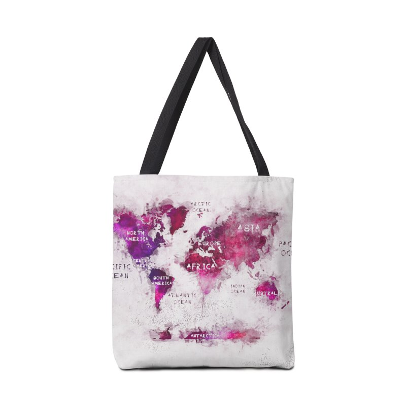 world map white 29  Accessories Tote Bag Bag by jbjart Artist Shop