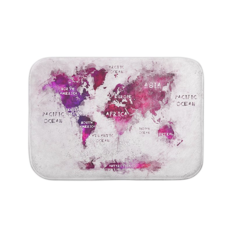world map white 29  in Bath Mat by jbjart Artist Shop