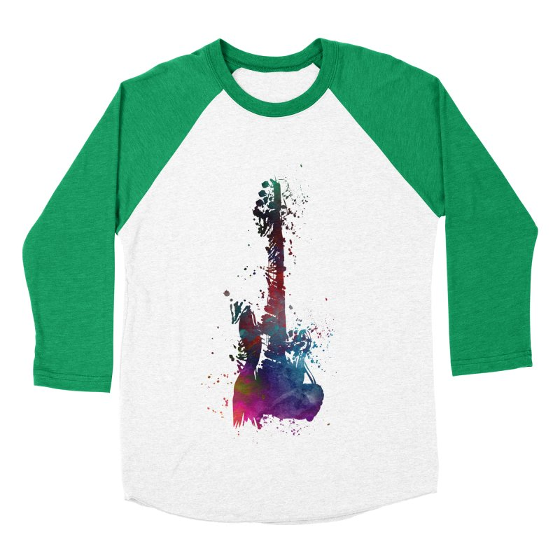 Guitar art Women's Baseball Triblend Longsleeve T-Shirt by jbjart Artist Shop
