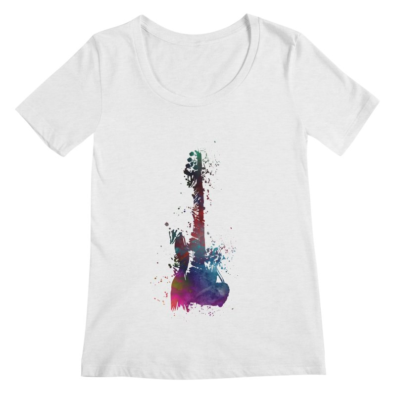 Guitar art Women's Regular Scoop Neck by jbjart Artist Shop