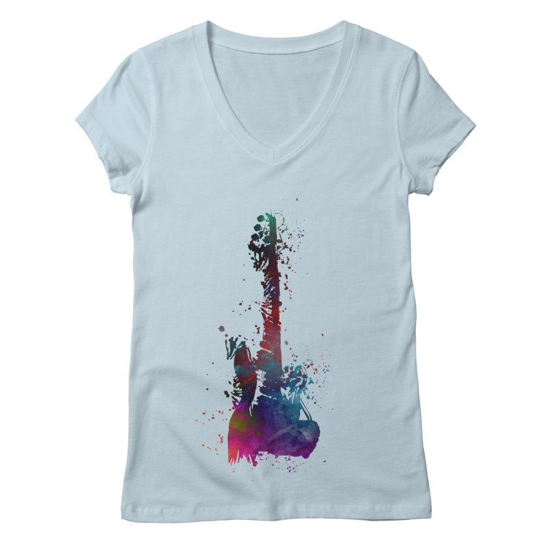 Guitar art Women's V-Neck by jbjart Artist Shop