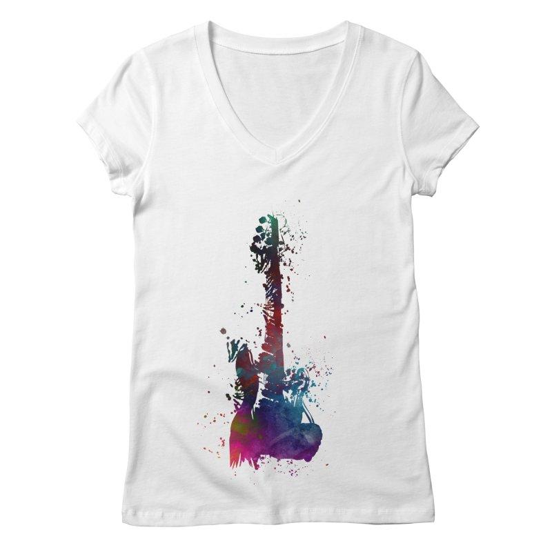 Guitar art Women's Regular V-Neck by jbjart Artist Shop