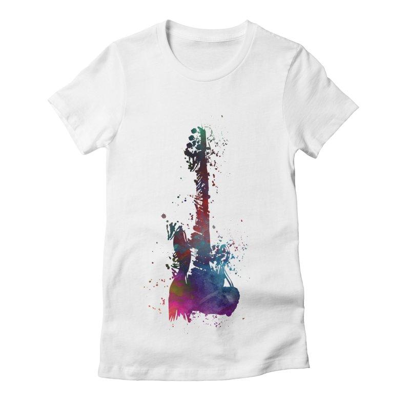 Guitar art Women's Fitted T-Shirt by jbjart Artist Shop
