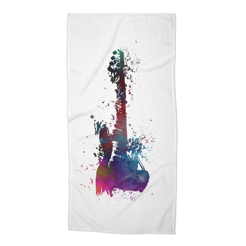 Guitar art Accessories Beach Towel by jbjart Artist Shop