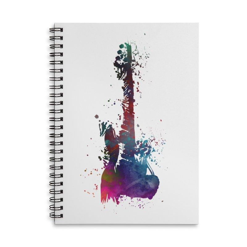 Guitar art Accessories Lined Spiral Notebook by jbjart Artist Shop