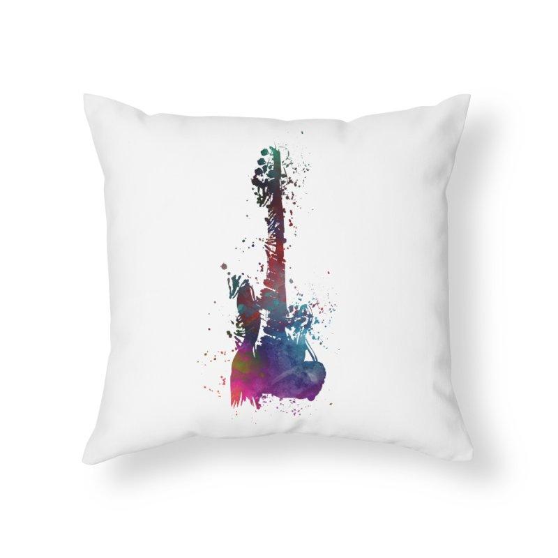 Guitar art Home Throw Pillow by jbjart Artist Shop