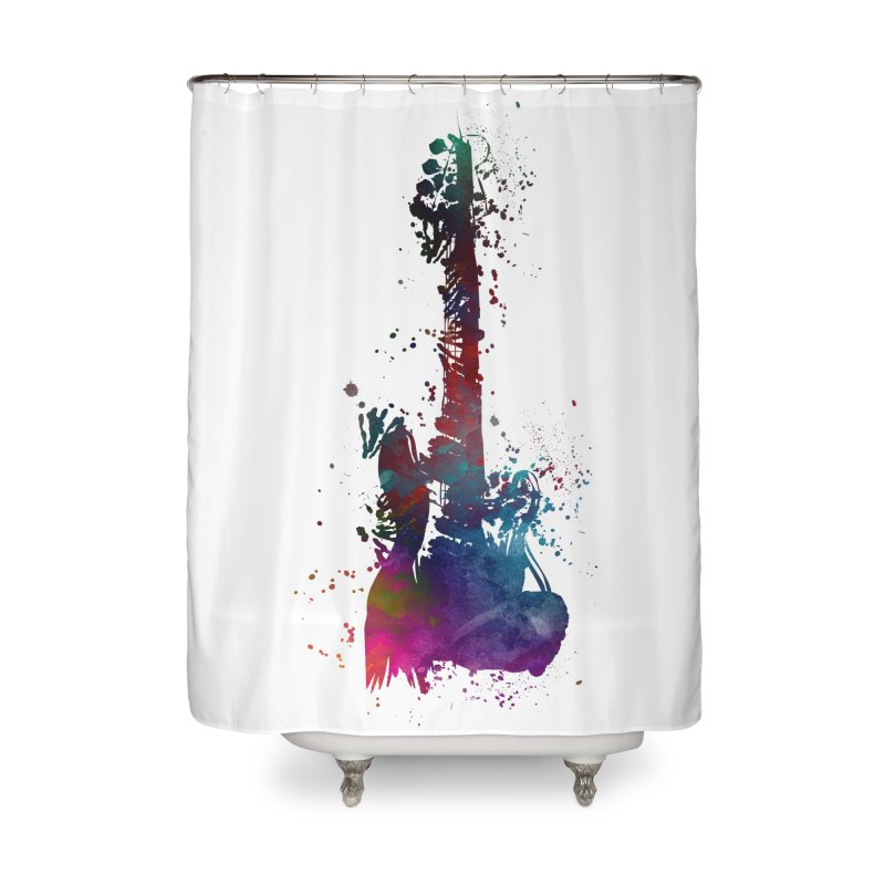 Guitar art Home Shower Curtain by jbjart Artist Shop