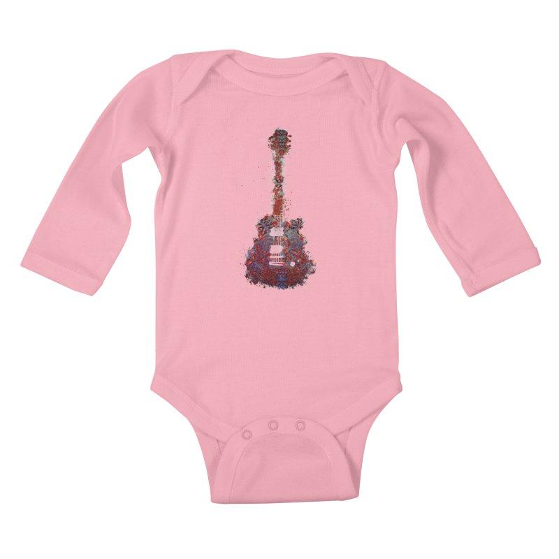 Guitar Kids Baby Longsleeve Bodysuit by jbjart Artist Shop