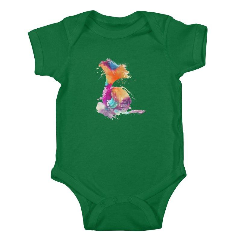 French Horn Kids Baby Bodysuit by jbjart Artist Shop