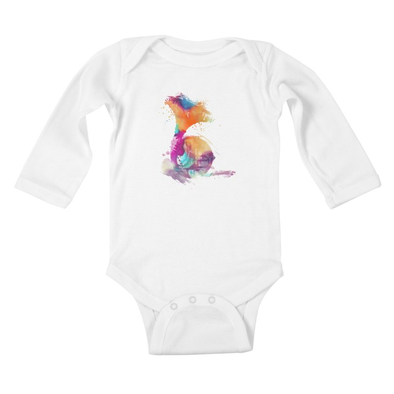French Horn Kids Baby Longsleeve Bodysuit by jbjart Artist Shop