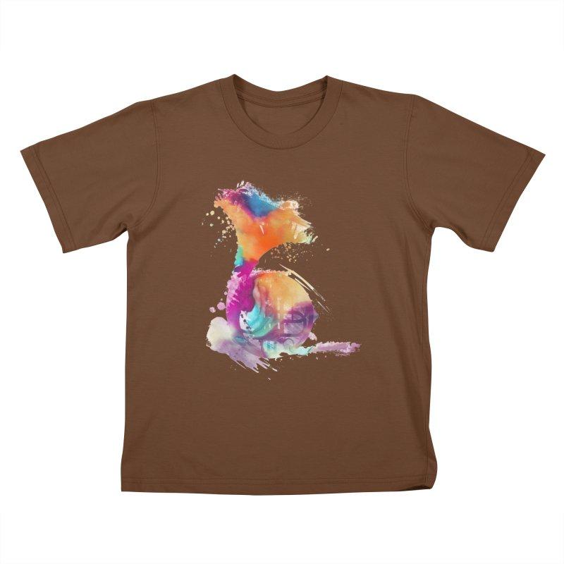 French Horn Kids T-Shirt by jbjart Artist Shop