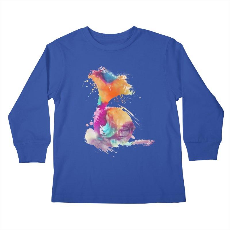 French Horn Kids Longsleeve T-Shirt by jbjart Artist Shop