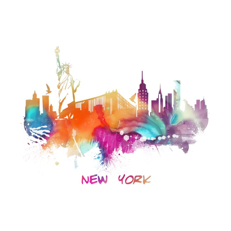 New York City skyline Women's V-Neck by jbjart Artist Shop