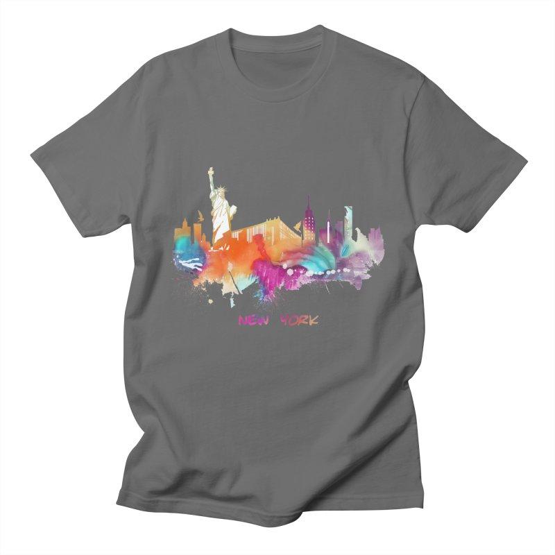 New York City skyline Men's T-Shirt by jbjart Artist Shop