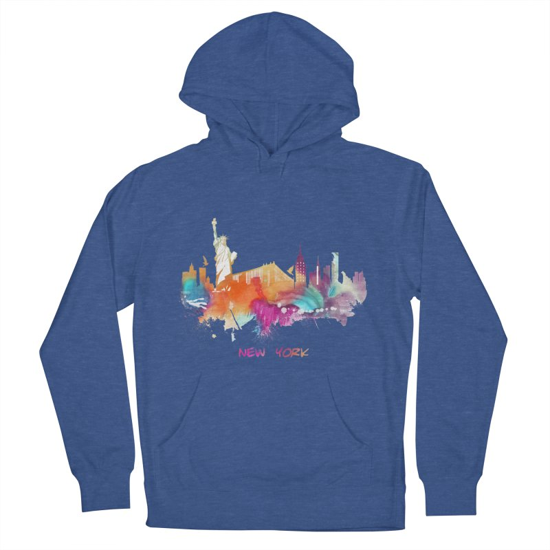 New York City skyline Women's French Terry Pullover Hoody by jbjart Artist Shop