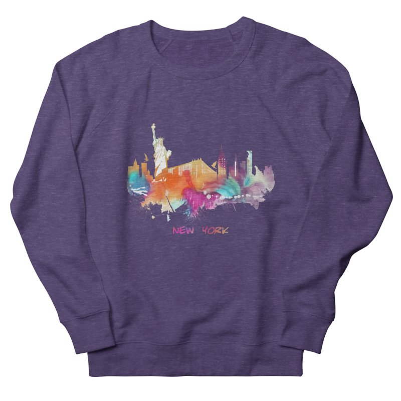 New York City skyline Women's French Terry Sweatshirt by jbjart Artist Shop
