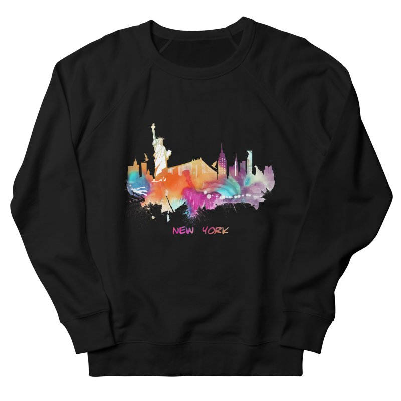 New York City skyline Women's French Terry Sweatshirt by jbjart Artist Shop