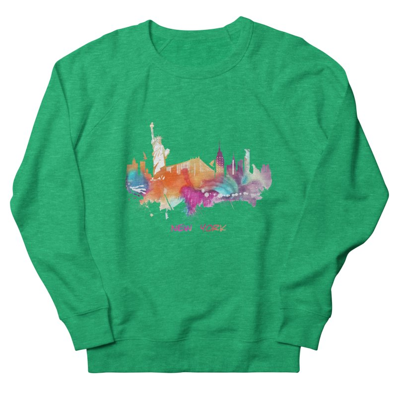 New York City skyline Men's French Terry Sweatshirt by jbjart Artist Shop
